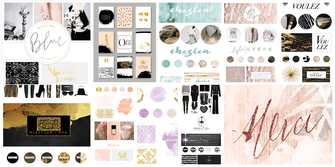 blog design inspiration board