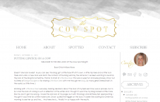 Portfolio custom blog design