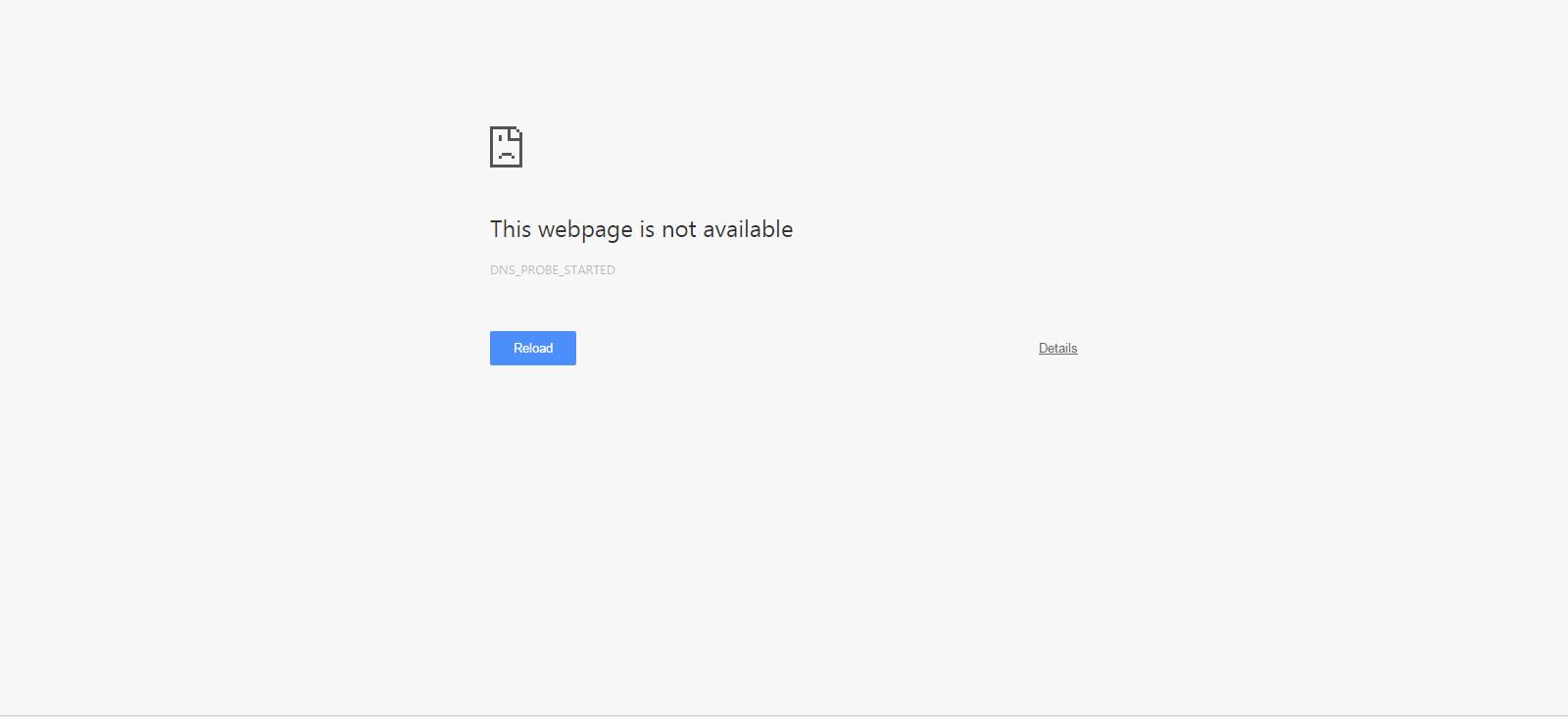 web page broken