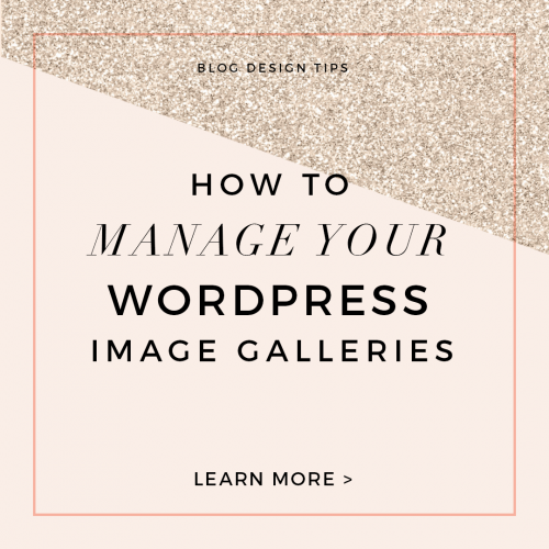 how to manage wordpress image galleries