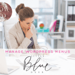 Custom Blog Design Tips:  How to Manage Wordpress Menus
