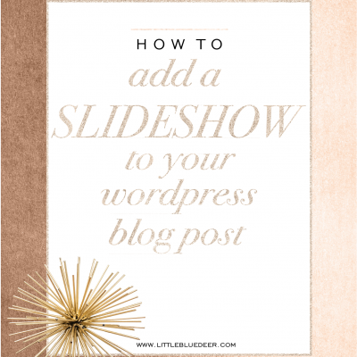 Custom Blog Design Tips:  Add a Slideshow in Post