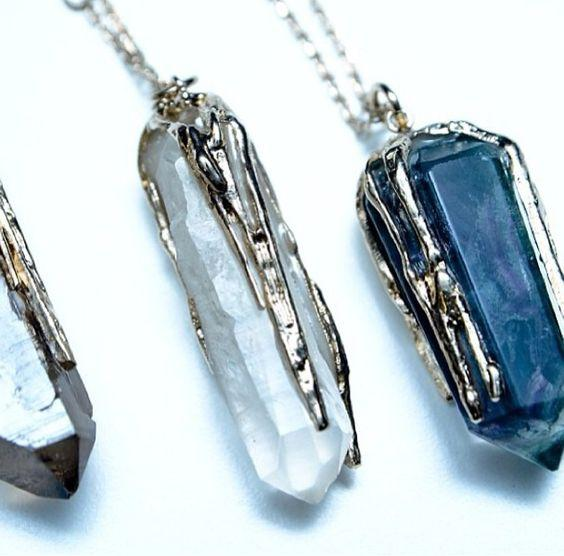 ferragamo rock crystal necklaces