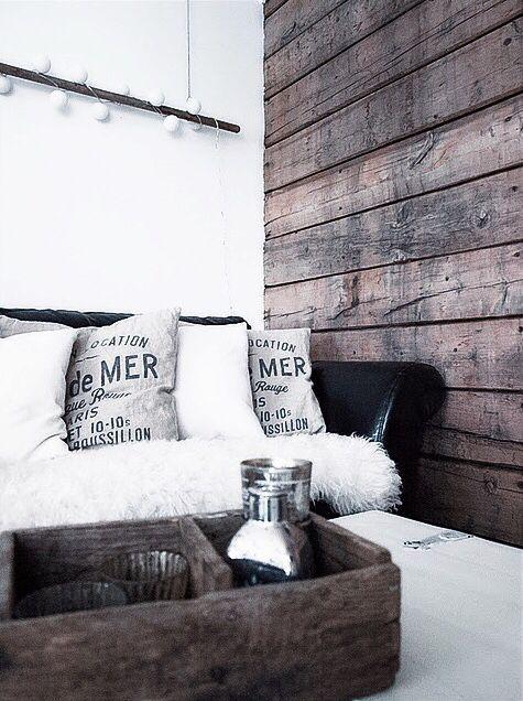 distressed wood walls