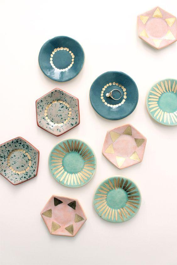 pastel ceramic dishes