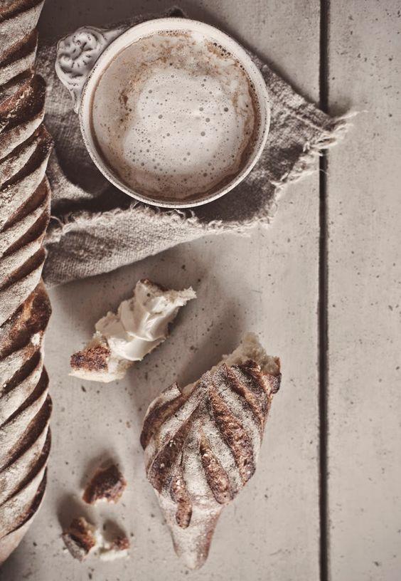 hot chocolate and burlap napkin