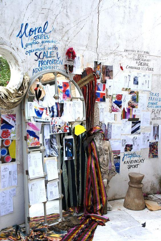 graffiti walls and standing mirror