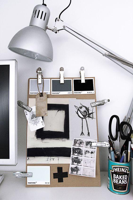 gray inspiration board
