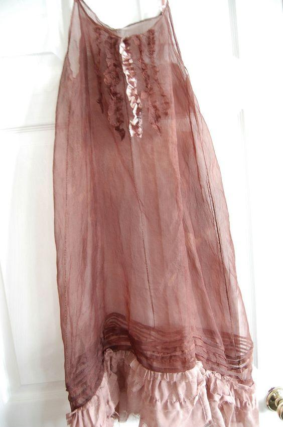 marsala organza slip dress
