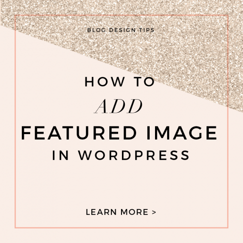 how to add featured image in wordpress