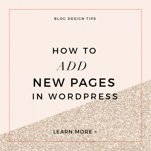 how to add new pages in wordpress