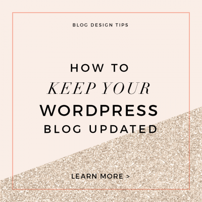 Custom Blog Design Tips – WordPress and Plugin Updates