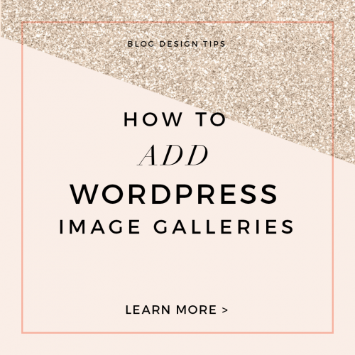 How to add a wordpress image gallery