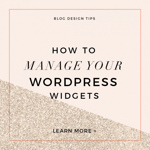 how to manage your wordpress widgets