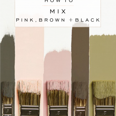 How to Mix Pink, Brown + Black