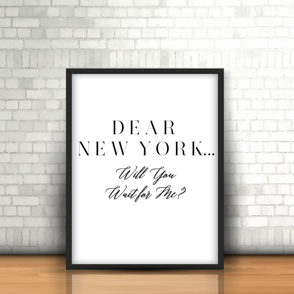 dear new york framed