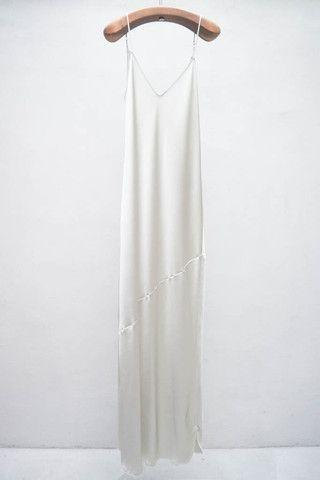 white silk nightgown