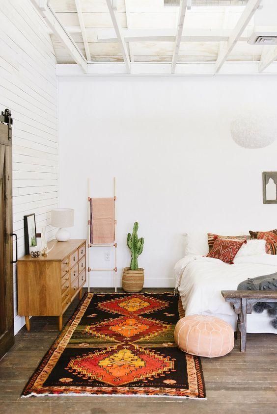 kilim rug in white loft