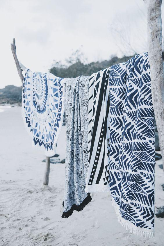 ikat beach towels