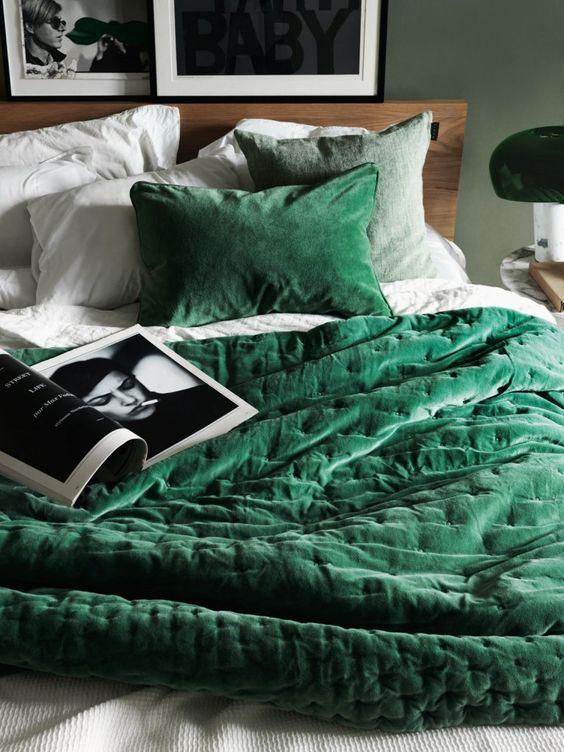 green velvet duvet