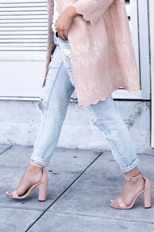 pink lace duster