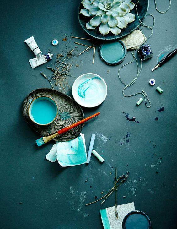 aqua blue inspiration