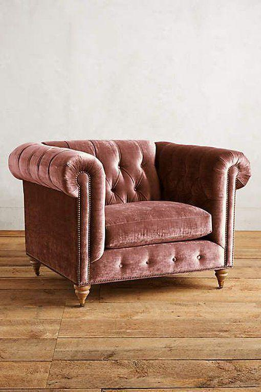 marsala velvet chair