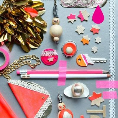 Pink + Orange + Gold!