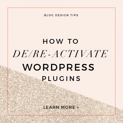 How to Deactivate and Reactivate WordPress Plugins