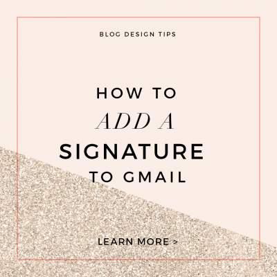How to Add a Signature to Gmail