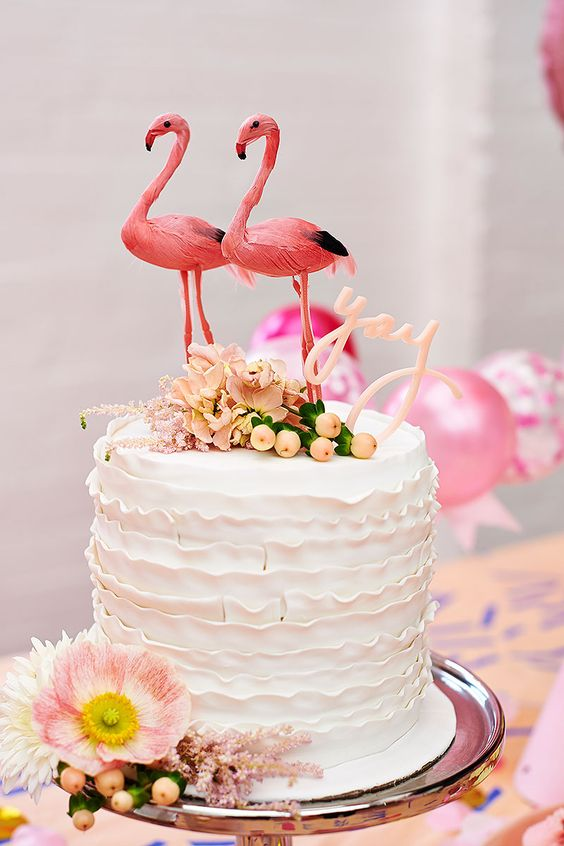 Poppies For Grace Flamingo Cake Topper