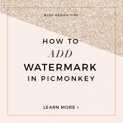 How to Add a Watermark to Photo Using Picmonkey