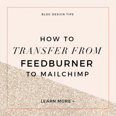 How to Transfer Subscribers from Feedburner to Mailchimp