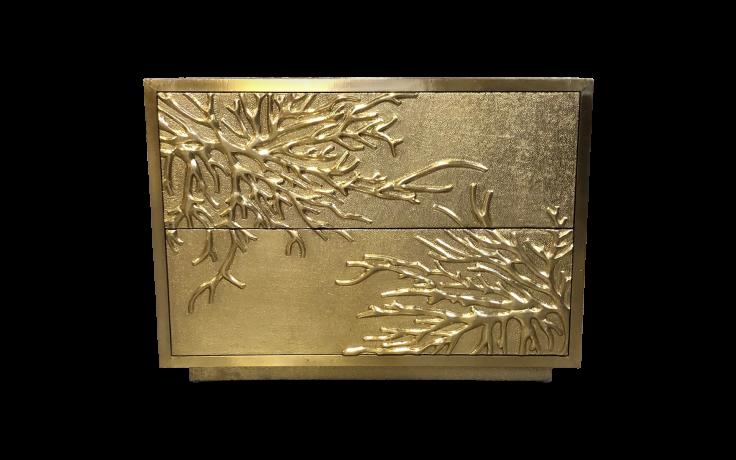 gold metallic cabinet