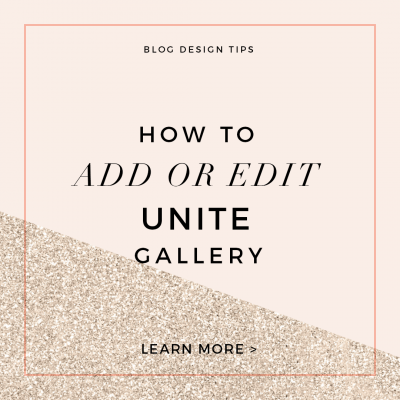 How to Edit Unite Gallery
