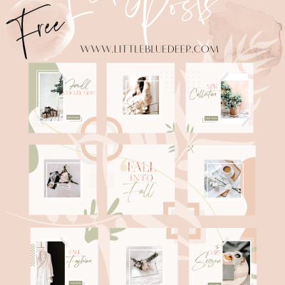 Free Fall Puzzle Instagram Templates