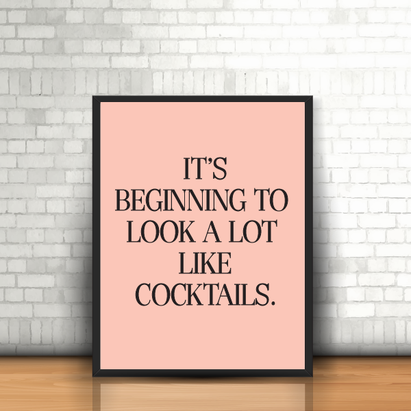 cocktails framed