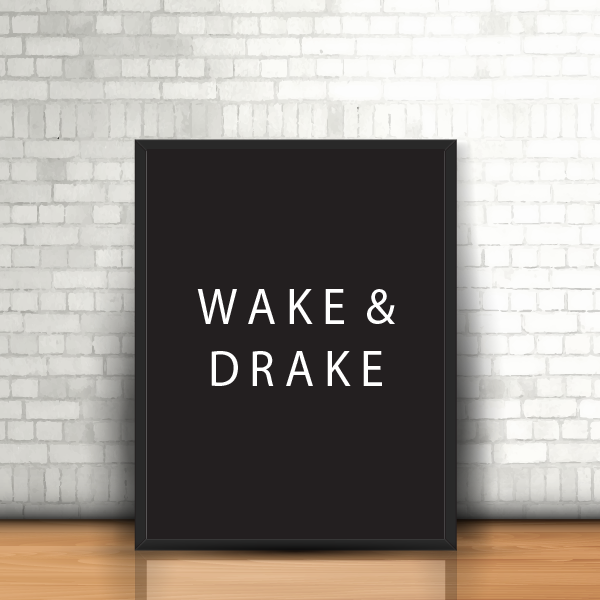wake and drake framed