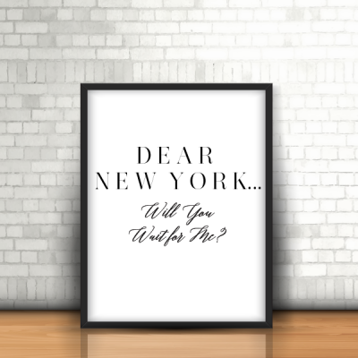 Dear New York…