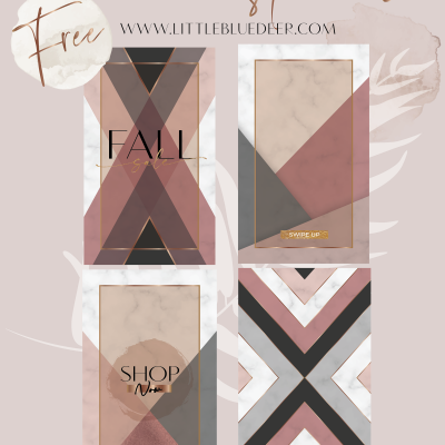 Free Fall Insta-Glam Templates